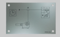 アルミ 回路図銘板